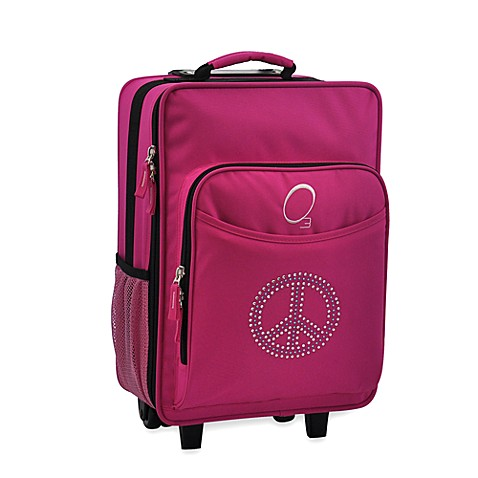 O3 Kids Luggage with Integrated Cooler in Peace Sign