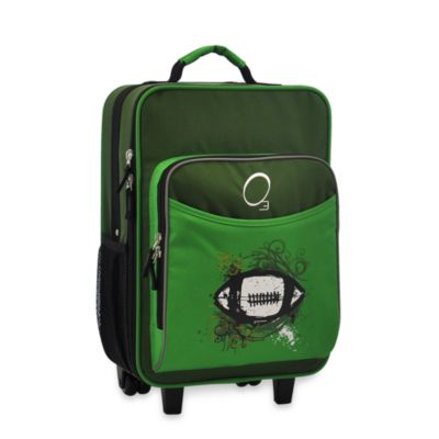 O3 Kids Luggage with Integrated Cooler in Green Football