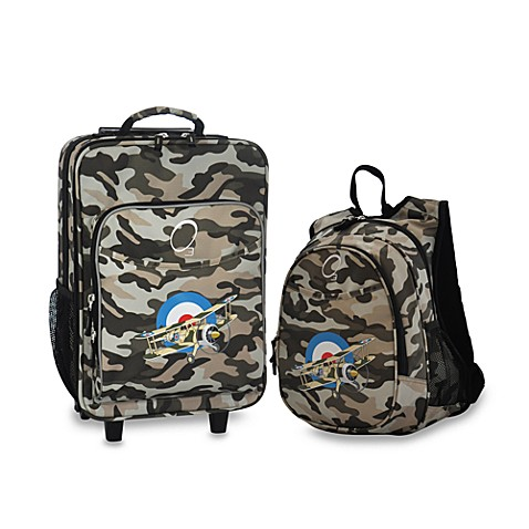 O3 Kid's Backpack and Luggage Set - Plane