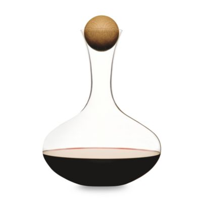 Sagaform® Hand-Blown Glass Wine Decanter with Stopper