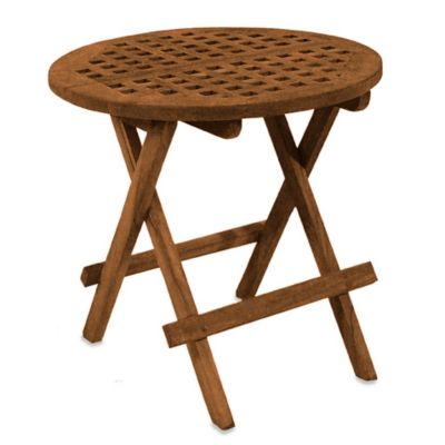 Teak Folding Deck Table in Round