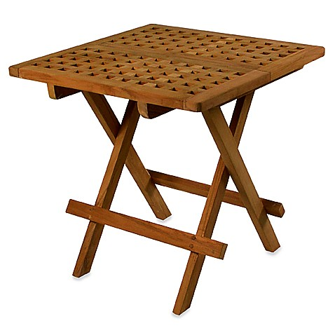 Teak Folding Deck Table in Square