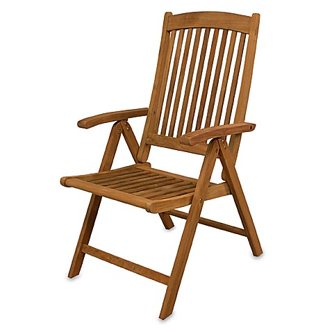 Teak Avalon Folding Multi-Position Deck Chair With Arms