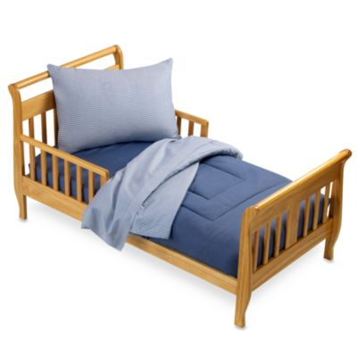 TL Care Percale 4-Piece Toddler Bedding Set in Chambray