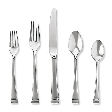 Lenox® Federal Platinum Frosted Flatware 5-Piece Place Setting