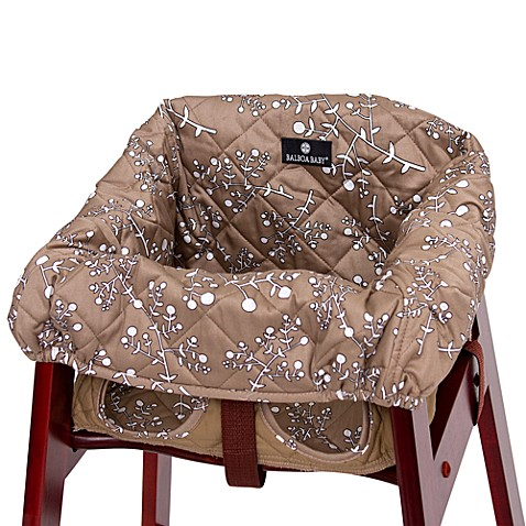 balboa baby high chair cover in khaki berry buybuy baby. Black Bedroom Furniture Sets. Home Design Ideas