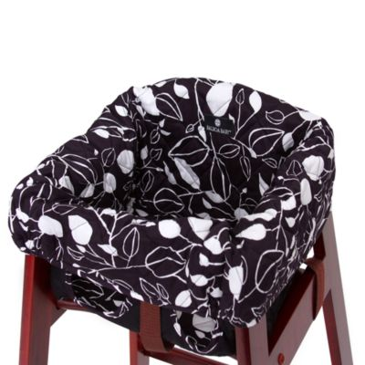 Balboa Baby® High Chair Cover in Black White Tea Leaf