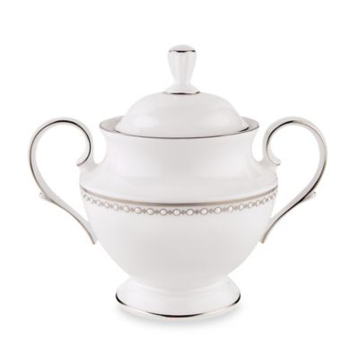 Lenox® Pearl Platinum™ Covered Sugar Bowl
