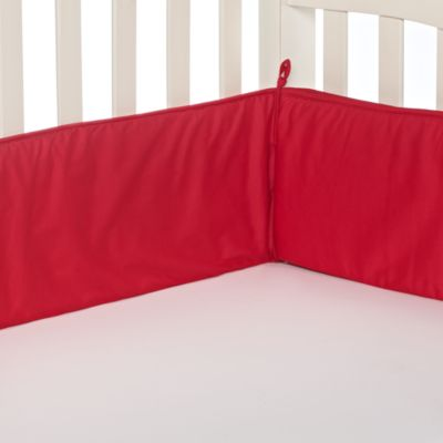 Crib Bumper in Red