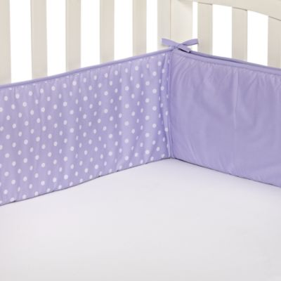 TL Care® Lavender Polka Dot Crib Bumper