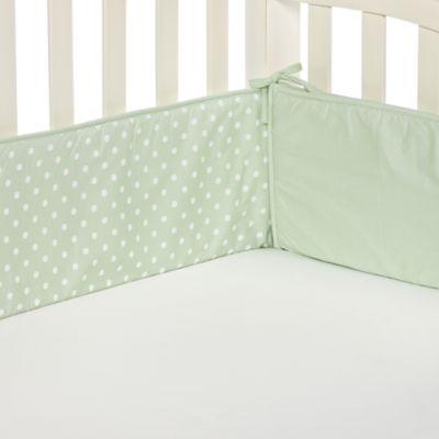 TL Care® Celery Polka Dot Crib Bumper