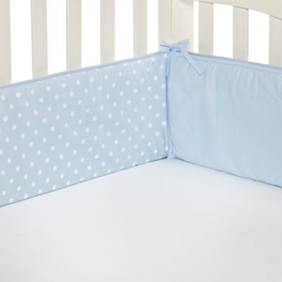 TL Care® Blue Polka Dot Crib Bumper