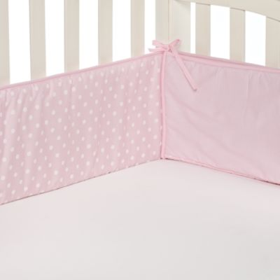 TL Care® Pink Polka Dot Crib Bumpers