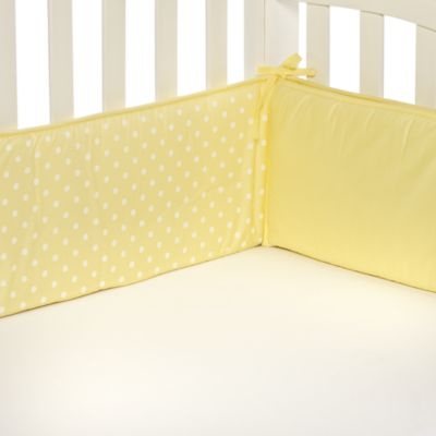 TL Care® Maize Polka Dot Crib Bumper