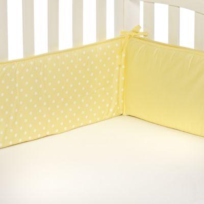 TL Care® Maize Polka Dot Crib Bumper