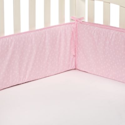 TL Care® Pink Star Crib Bumper