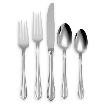Lenox® Gorham Melon Bud Frosted™ 5-Piece Stainless Flatware Place Setting