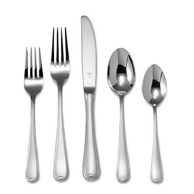 Ribbon Edge Frosted™ Flatware 5-Piece Place Setting