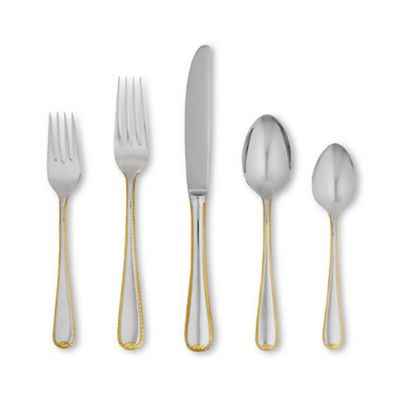 Golden Ribbon Edge™ Flatware 5-Piece Place Setting