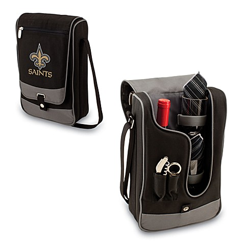 Picnic Time® New Orleans Saints Barolla Insulated Wine Cooler Tote in Black