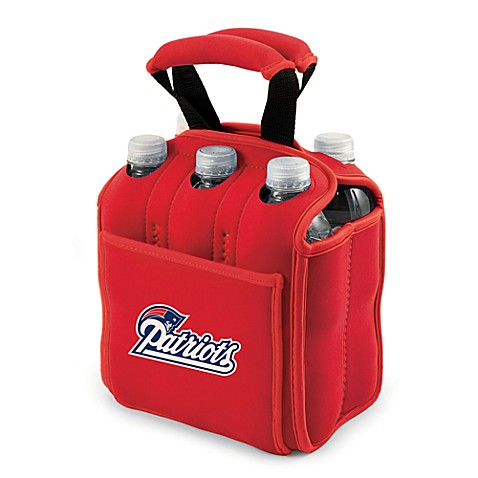 Picnic Time® New England Patriots Six-Pack Cooler Tote in Red