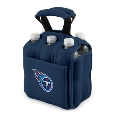 Picnic Time® Tennessee Titans Six-Pack Cooler Tote in Navy Blue