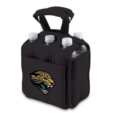 Picnic Time® Jacksonville Jaguars Six-Pack Cooler Tote in Black
