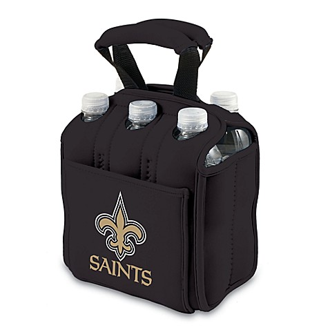 Picnic Time® New Orleans Saints Six-Pack Cooler Tote in Black