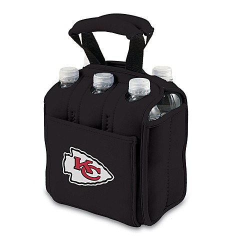Picnic Time® Kansas City Chiefs Six-Pack Cooler Tote in Black