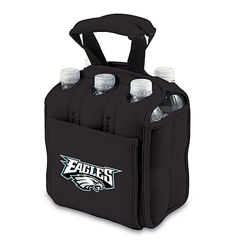 Picnic Time® Philadelphia Eagles Six-Pack Cooler Tote in Black