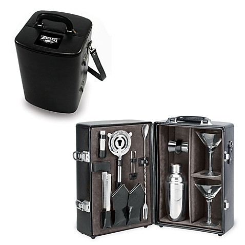 Picnic Time Manhattan Black Insulated Cocktail Case - Philadelphia Eagles