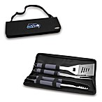Picnic Time® Seattle Seahawks Metro BBQ Tote with Tools in Black