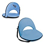 Picnic Time® Tennessee Titans Oniva Portable Reclining Seat in Light Blue