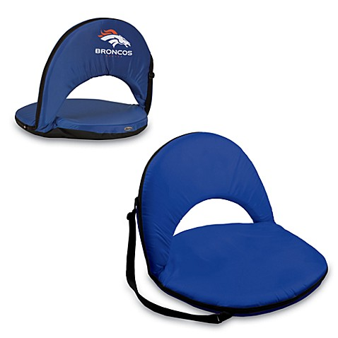 Picnic Time® Denver Broncos Oniva Portable Reclining Seat in Navy Blue