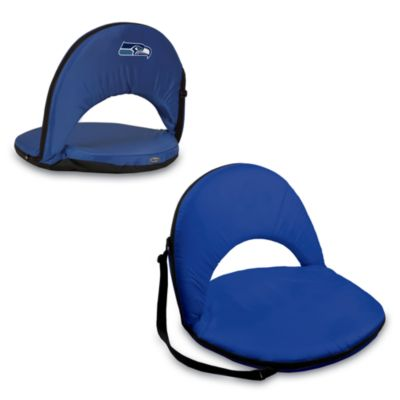 Picnic Time® Seattle Seahawks Oniva Portable Reclining Seat in Navy Blue