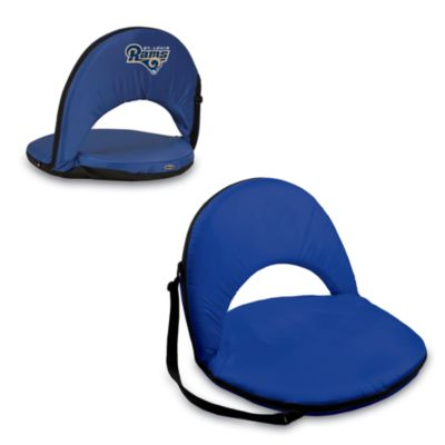 Picnic Time® St. Louis Rams Oniva Portable Reclining Seat in Navy Blue