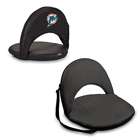 Picnic Time® Miami Dolphins Oniva Portable Reclining Seat in Black