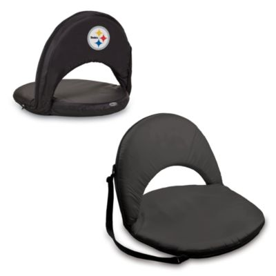 Picnic Time® Pittsburgh Steelers Oniva Portable Reclining Seat in Black