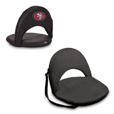 Picnic Time® San Francisco 49ers Oniva Portable Reclining Seat in Black