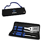Picnic Time® Dallas Cowboys Metro BBQ Tote with Tools in Blue