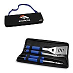 Picnic Time® Denver Broncos Metro BBQ Tote with Tools in Blue