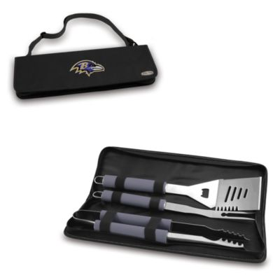 Picnic Time® Baltimore Ravens Metro BBQ Tote with Tools in Black