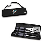 Picnic Time® Miami Dolphins Metro BBQ Tote with Tools in Black