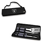 Picnic Time® Oakland Raiders Metro BBQ Tote with Tools in Black