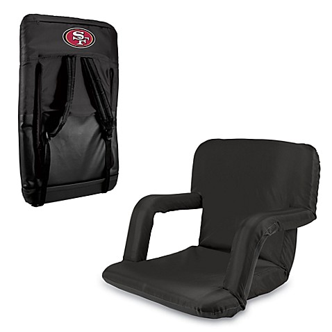 Picnic Time Portable Ventura Reclining Seat - San Francisco 49ers (Black)