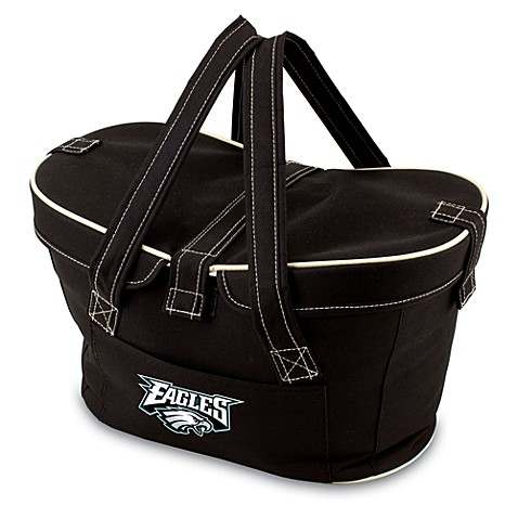 Picnic Time® Philadelphia Eagles Mercado Insulated Cooler Basket in Black