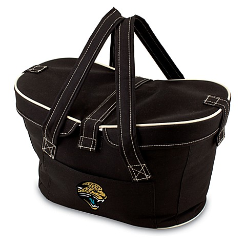 Picnic Time® Jacksonville Jaguars Mercado Insulated Cooler Basket in Black
