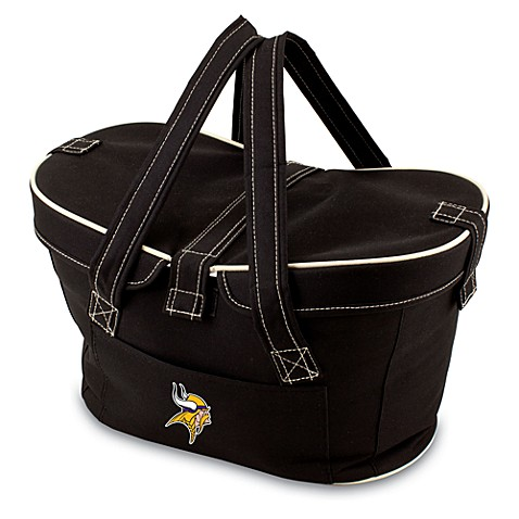 Picnic Time® Minnesota Vikings Mercado Insulated Cooler Basket in Black