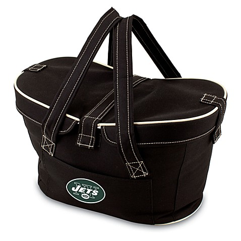 Picnic Time® New York Jets Mercado Insulated Cooler Basket in Black