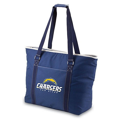 Picnic Time® Tahoe San Diego Chargers Insulated Cooler Tote in Navy Blue